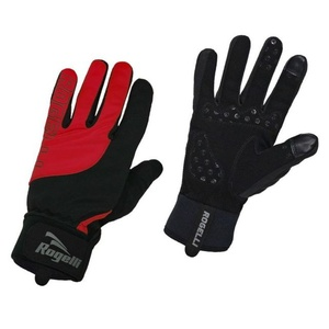 Men cycling gloves Rogelli Storm, 006.126. black-red, Rogelli