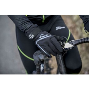 Men cycling gloves Rogelli Shield, 006.128. black, Rogelli