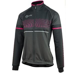 Women softshell cycling jacket Rogelli Bella, 010.336.černo-růžová, Rogelli