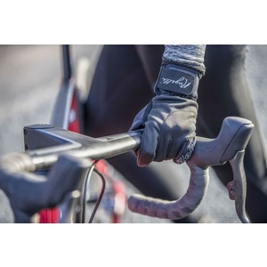 Women cycling gloves Rogelli Storm, 010.655. black, Rogelli