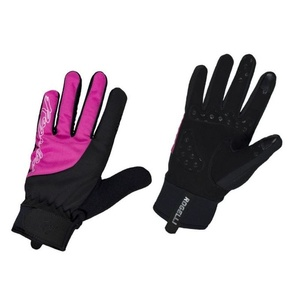 Women cycling gloves Rogelli Storm, 010.656. black-pink, Rogelli