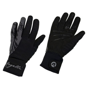 Women cycling gloves Rogelli Flash, 010.660. black, Rogelli
