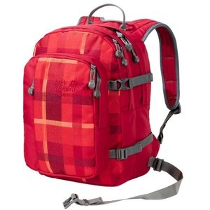 Backpack JACK WOLFSKIN Berkeley S tm., indian red woven check 7941, Jack Wolfskin