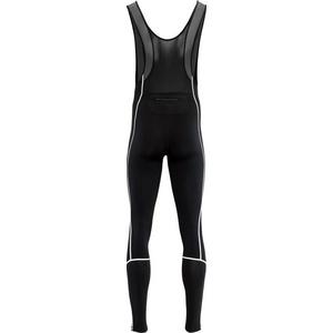 Men elastic winter pants Silvini RUBENZA MP1317 black, Silvini