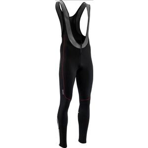 Men elastic winter pants Silvini RUBENZA MP1317 black red, Silvini