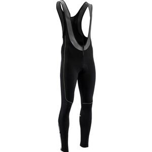 Men elastic winter pants Silvini RUBENZA MP1321 black green, Silvini
