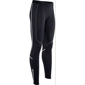 Men elastic insulated pants Silvini RUBENZA MP1319 black white, Silvini