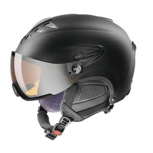 Ski helmet UVEX HLMT 300 VISOR, black mat (S566162220*), Uvex