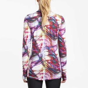 Women shirt with long sleeve Saucony Wmn Freedom LS Crew Multi Print, Saucony