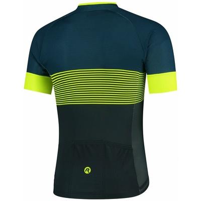Aerodynamic bike jersey Rogelli BOOST with short sleeve, blue-reflective yellow 001.118, Rogelli