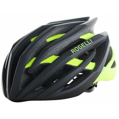 Ultralight cycling helmet Rogelli TECTA, black-reflective yellow 009.812, Rogelli