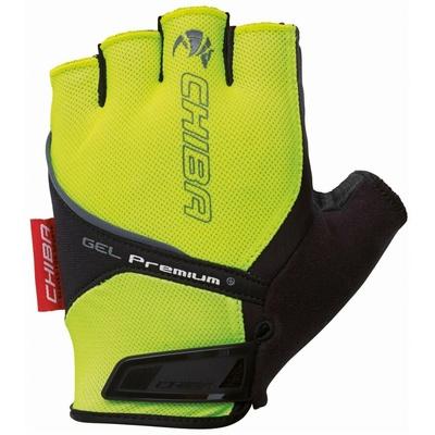 Bike gloves Chiba GEL PREMIUM with gel palms, reflection yellow 30117.03-1, Chiba