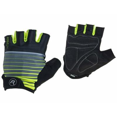 Cycling gloves Rogelli HERO, black-reflective yellow 006.961, Rogelli