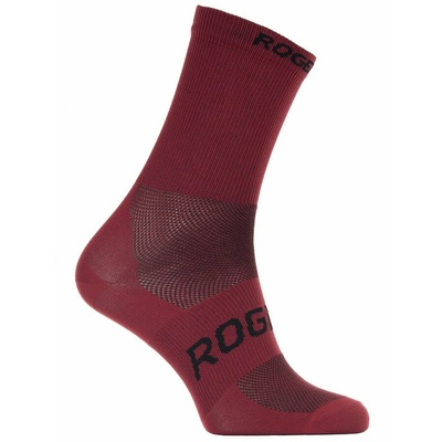 Antibacterial socks Rogelli SUNSHINE 08 with slight compression, wine 007.143, Rogelli