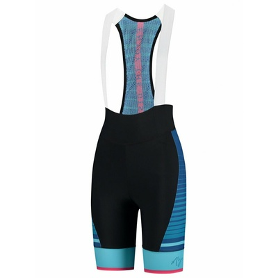 Women cyklokraťasy Rogelli IMPRESS with gel lining, black-blue-pink 010.287, Rogelli