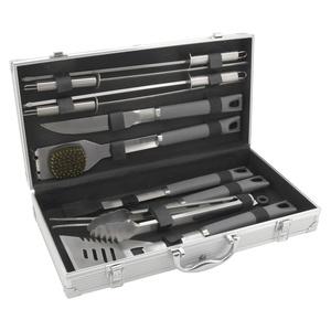 BBQ tools set 11 pc Cattara ALU case GREY LINE, Cattara