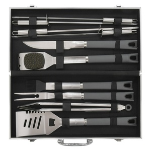 BBQ tools set 11 pc Cattara ALU case GREY LINE, Cattara