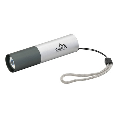 Lamp pocket LED Cattara 120lm ZOOM charging SILVER, Cattara