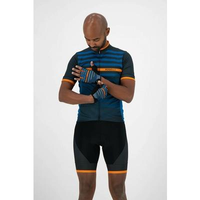 Cycling gloves Rogelli STRIPE, blue-orange 006.312, Rogelli