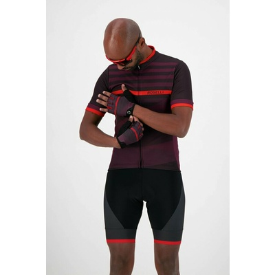Cycling gloves Rogelli STRIPE, burgundy-red 006.313, Rogelli
