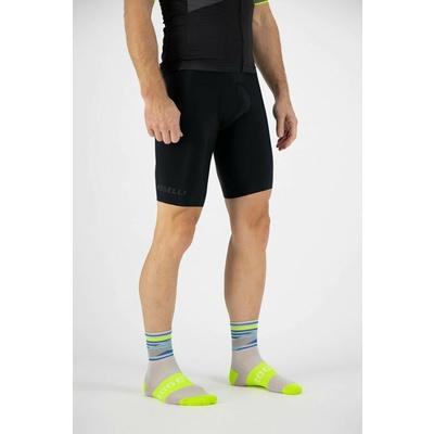 Design functional socks Rogelli STRIPE, gray-blue-reflective yellow 007.204, Rogelli