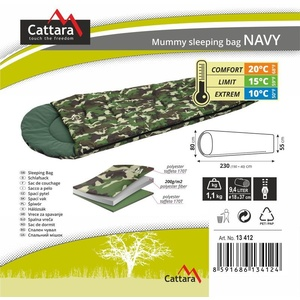 Sleeping bag mummy Cattara NAVY 10°C, Cattara