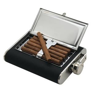 Flask Cattara 175ml with case to cigars, Cattara