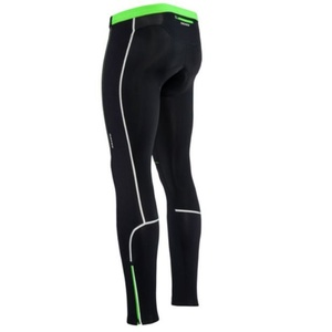 Men cycling pants Silvini MOVENZA MP1318 black-green, Silvini