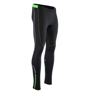Men elastic insulated pants Silvini RUBENZA MP1319 black green, Silvini