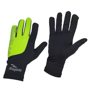 Men running winter gloves Rogelli Touch, 890.002. black-reflective yellow, Rogelli