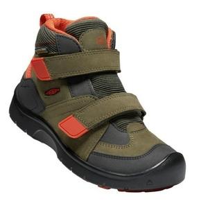 Children boots Keen Hikeport MID Strap WP C, martini olive / pureed pumpkin, Keen