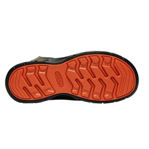 Children boots Keen Hikeport MID Strap WP Y, martini olive / pureed pumpkin, Keen