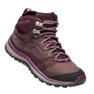 Women boots Keen Terrador Leather MID WP W, peppercorn / wine tasting, Keen