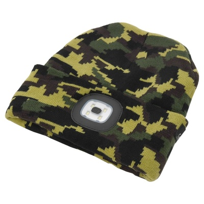 Headwear ARMY with LED lamp Cattara USB charging, Cattara