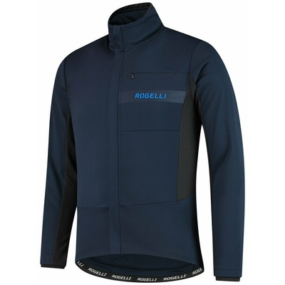 Softshell cycling jacket Rogelli BARRIER with fine insulation, blue 003.136, Rogelli