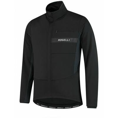 Softshell cycling jacket Rogelli BARRIER with fine insulation, black 003.137, Rogelli