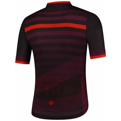 Bike jersey Rogelli STRIPE with short sleeve, black-burgundy-red 001.103, Rogelli