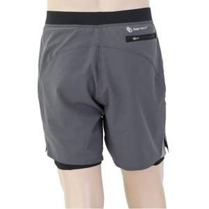 Men running shorts Sensor TRAILshorts grey / black 19100008, Sensor