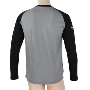 Men shirt Sensor Merino DF Adventure long sleeve grey / black 19100007, Sensor