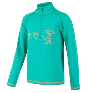 Children shirt Sensor Thermo long sleeve zipper light green / ufo, Sensor