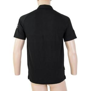 Men polo shirt Sensor Merino Active, black 19100002, Sensor