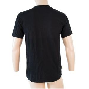 Men shirt Sensor MERINO ACTIVE PT LABEL short sleeve black 18200015, Sensor