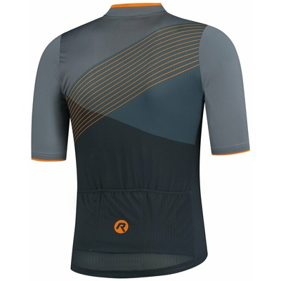 Aerodynamic bike jersey Rogelli SPIKE with short sleeve, gray-orange 001.337, Rogelli