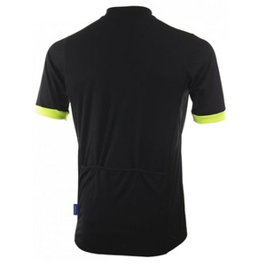 Bike jersey Rogelli PERUGIA 2.0 with freer cut, black-reflective yellow 001.005., Rogelli