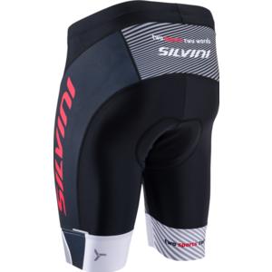 Men cycling shorts Silvini Team MP1407 black-red, Silvini