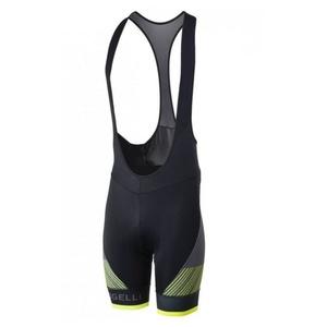 Bike shorts Rogelli RITMO with gel lining, black-reflective yellow, Rogelli