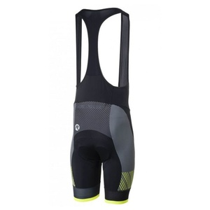 Bike shorts Rogelli RITMO with gel lining, black-reflective yellow, Rogelli