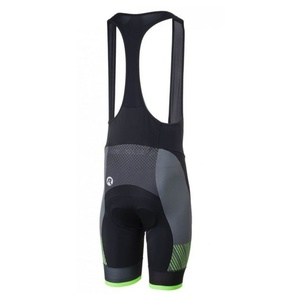 Bike shorts Rogelli RITMO with gel lining, black-reflective green 002.264., Rogelli
