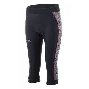 Women shorts to round Rogelli CAROU 3.0 with gel lining, black-gray-pink 010.259., Rogelli