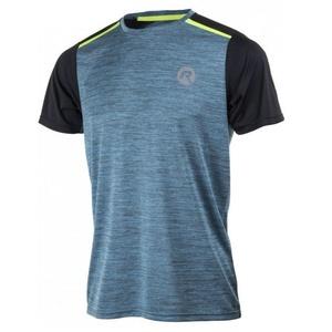 Men functional t-shirt Rogelli GRAVITY, turquoise streak-reflective yellow 830.242, Rogelli